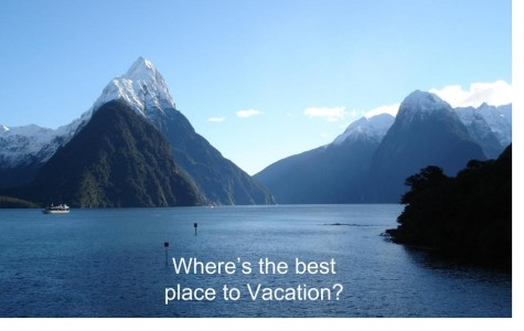 Where's the Best Place for a Vacation?