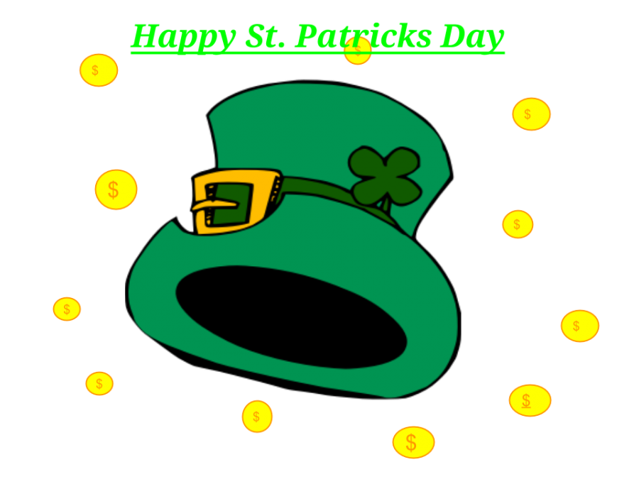 St Patrick's Day, March 17th!