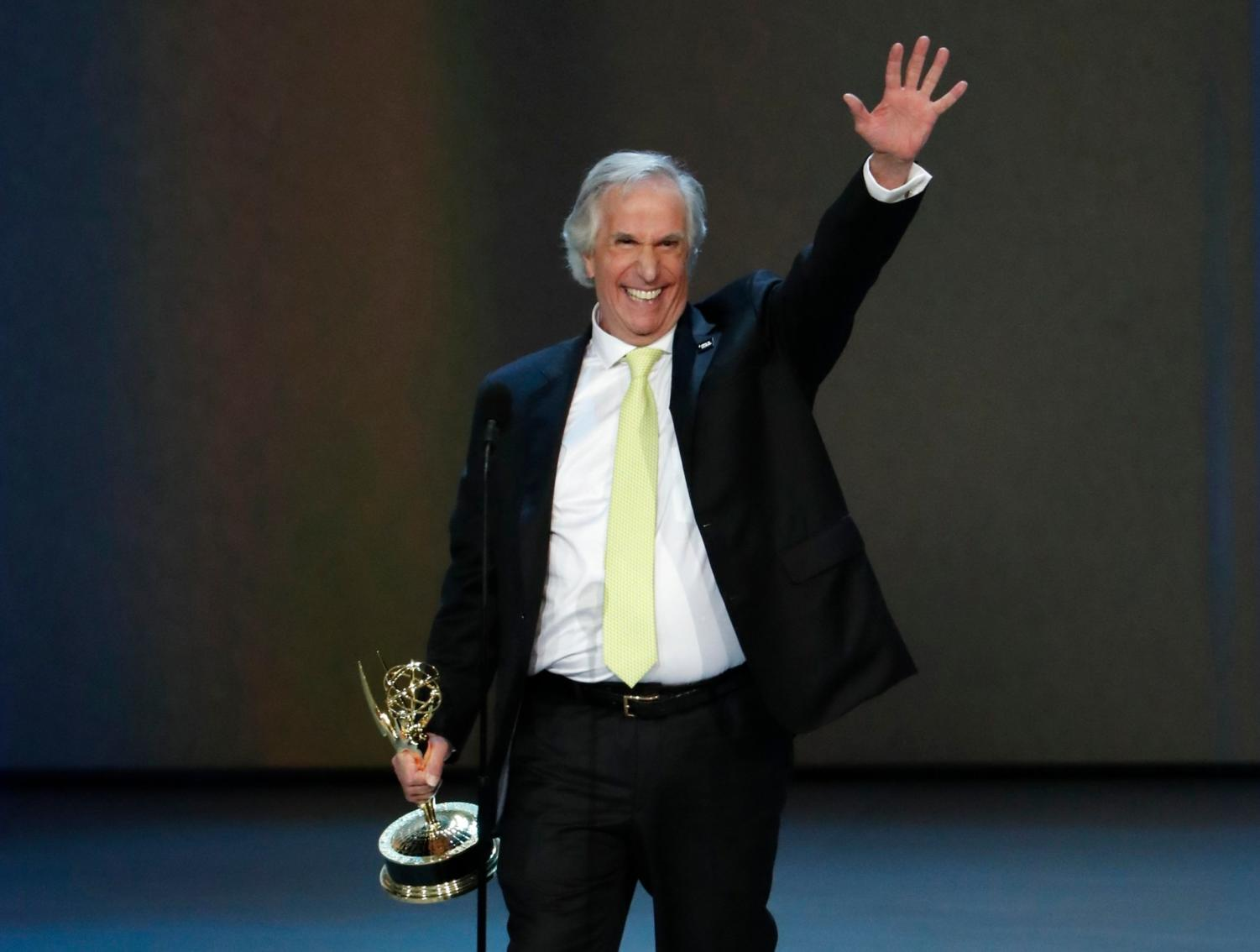 Henry Winkler, AKA the Fonz, won for his role as a drama instructor in