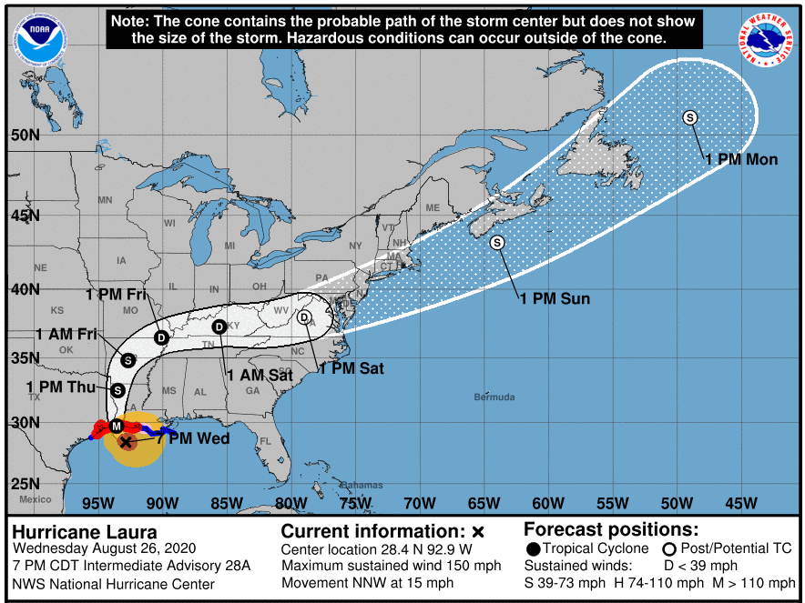 Hurricane+Laura+Strikes+the+Gulf+Coast